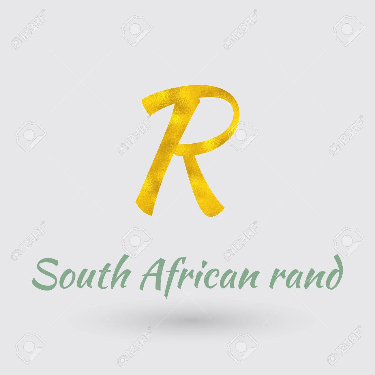 Symbol of the south african rand currency with golden texture symbol of the south african rand currency with golden texture stock vector 64293911 buycottarizona