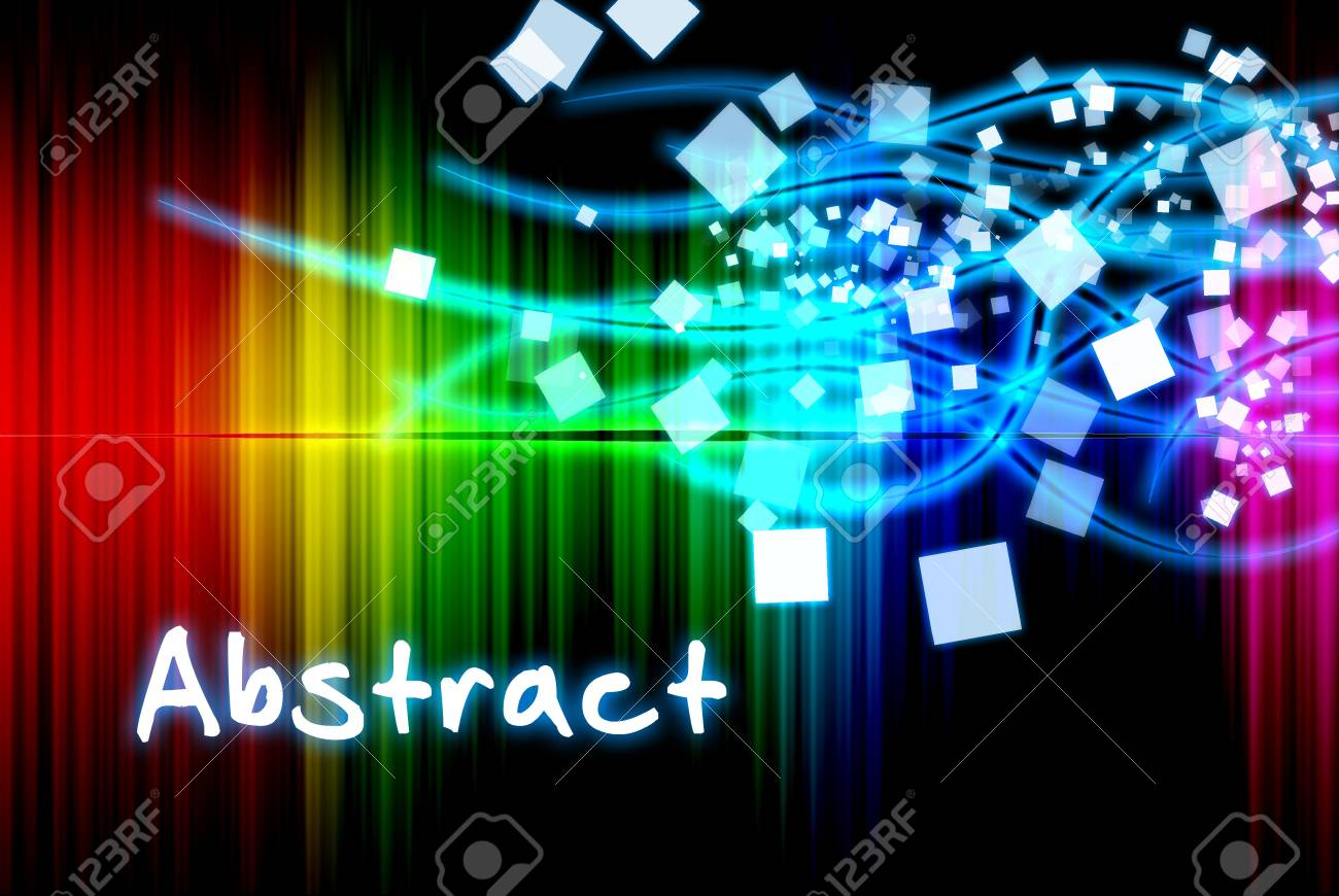 Spectrum abstract beautiful on the black background Stock Photo - 13271565