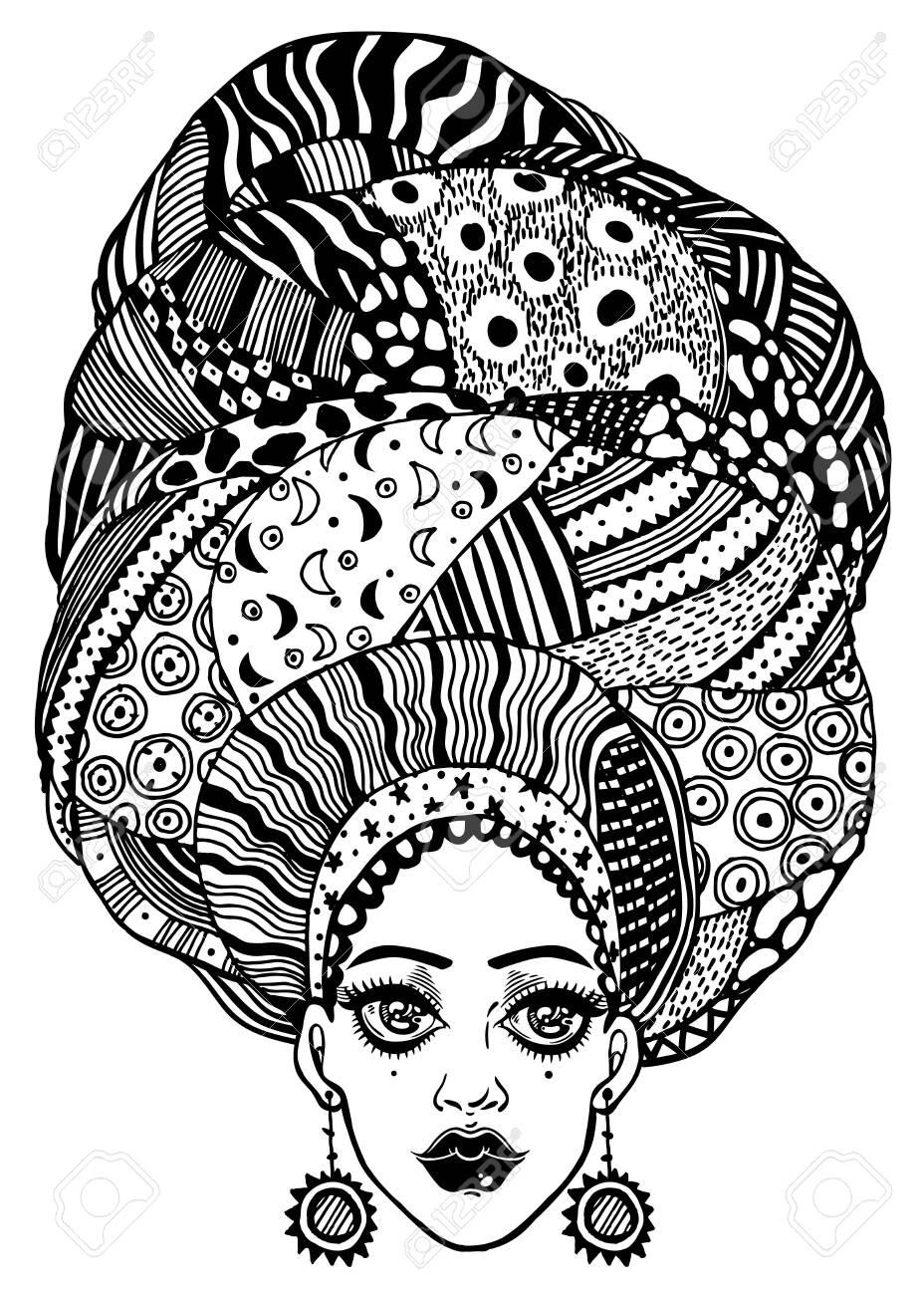 African Women Head Wrap Digital Art by James Mingo