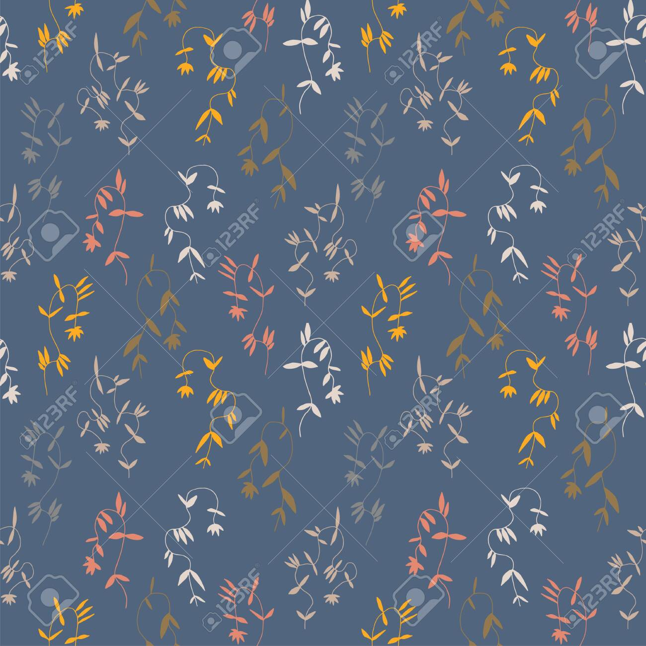 Little Flower Seamless Pattern In Vintage Scandinavian Minimalism Royalty Free Cliparts Vectors And Stock Illustration Image 145332191