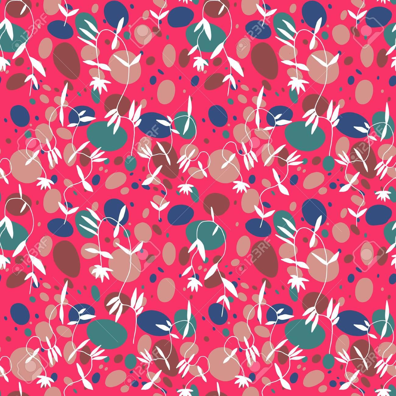 Little flower seamless pattern in vintage Scandinavian minimalism aesthetic, retro background. - 148404816