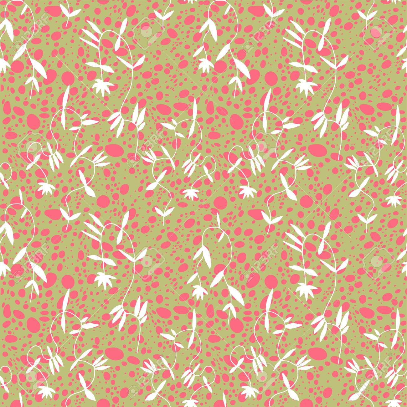 Little Flower Seamless Pattern In Vintage Scandinavian Minimalism Royalty Free Cliparts Vectors And Stock Illustration Image 151198489