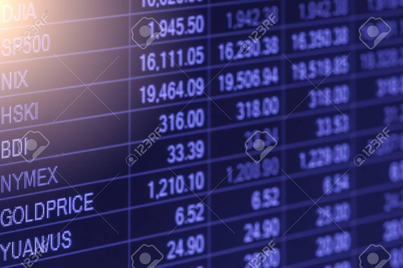 5f21080fa9 Grafico dell'indice di analisi dei mercati finanziari del mercato azionario  sul LED. Concetto astratto concetto di mercato azionario. Mercato  finanziario ...