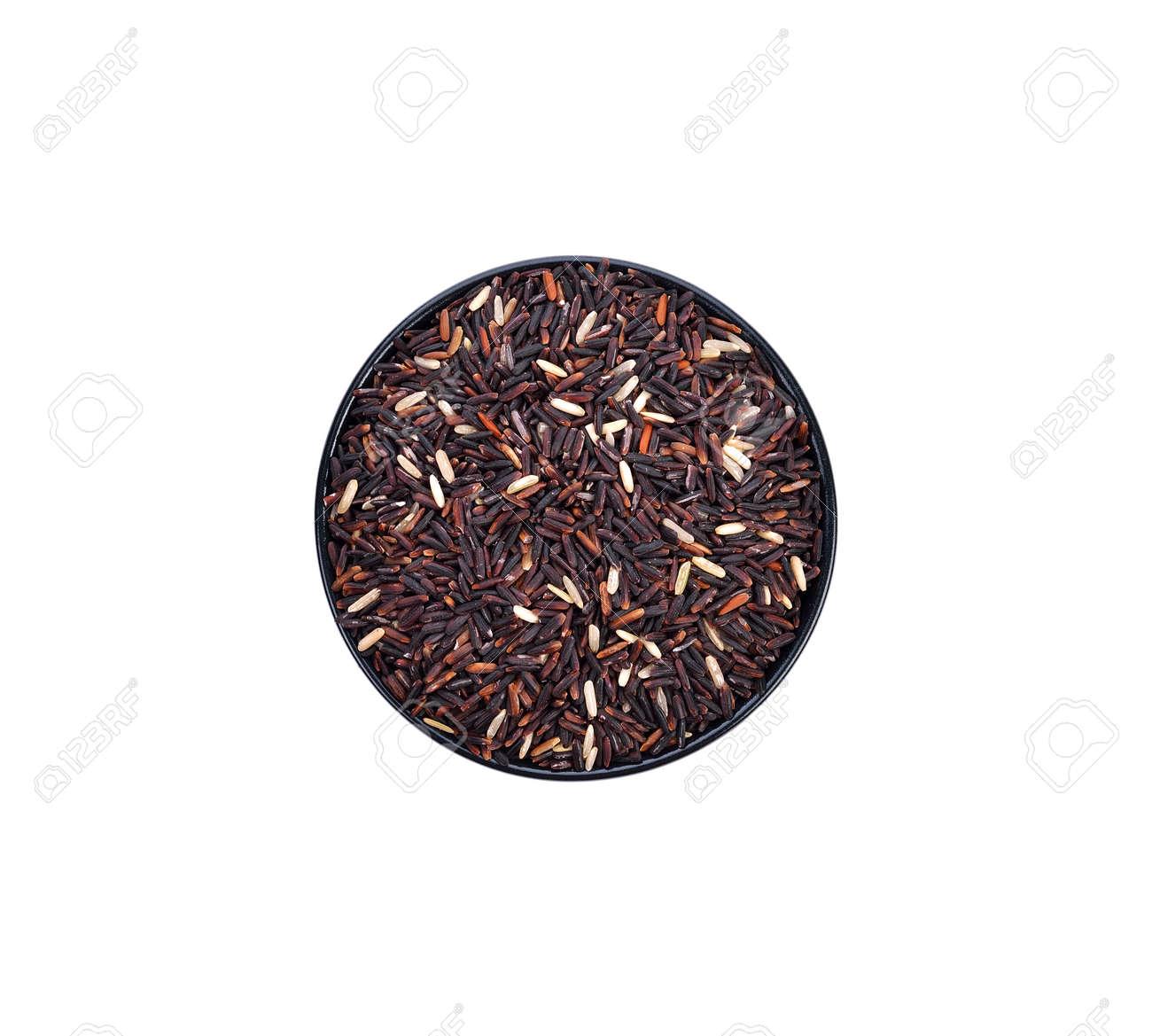 rice berry organic rice on white background - 169847325