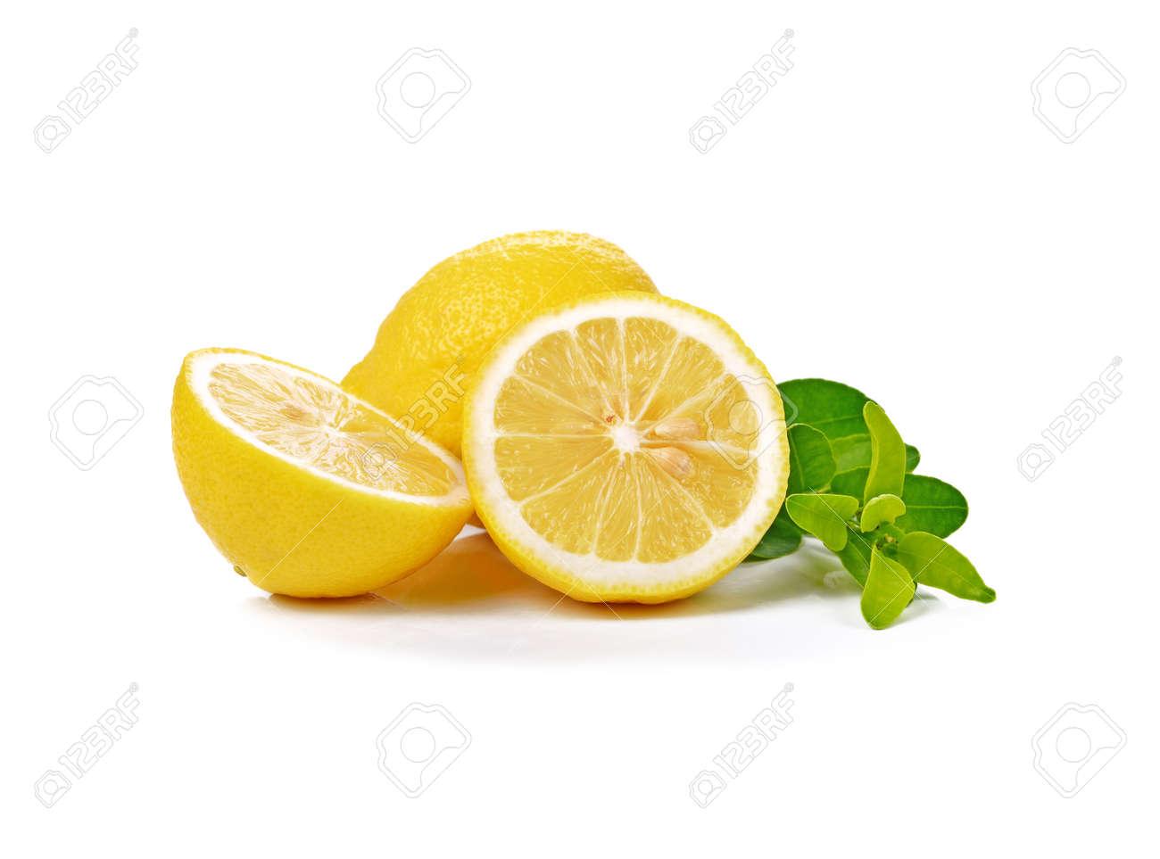 Fresh lemon isolated on white - 169847555