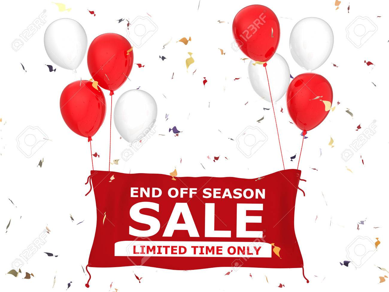 3f74d9d2188 end of season sale banner on white background Stock Photo - 50420927