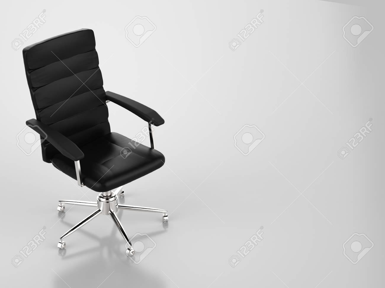 Sedie Da Ufficio In Pelle : Rendering 3d in pelle nera sedia da ufficio foto royalty free