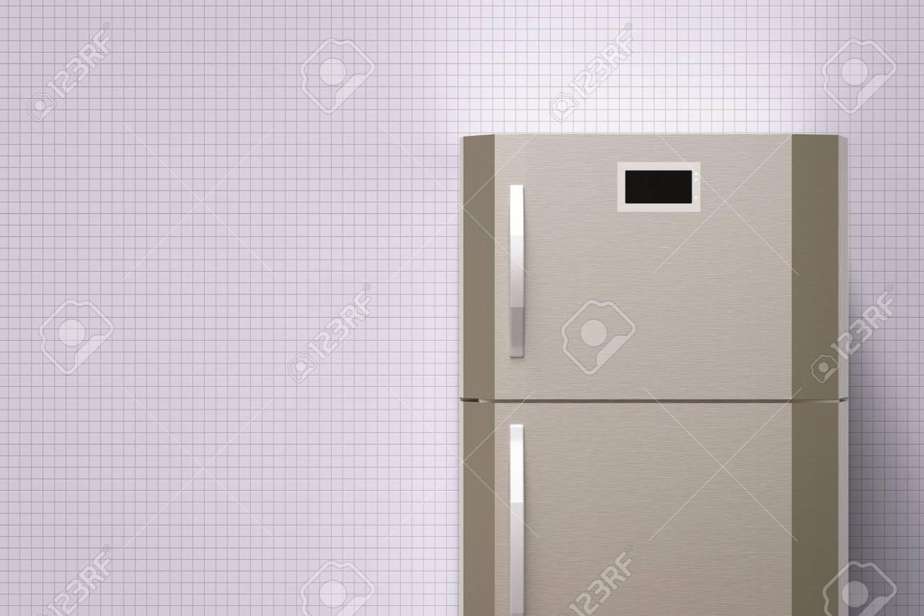 Retro Kühlschrank Grau : 3d rendering grau kühlschrank mit leerzeichen lizenzfreie fotos