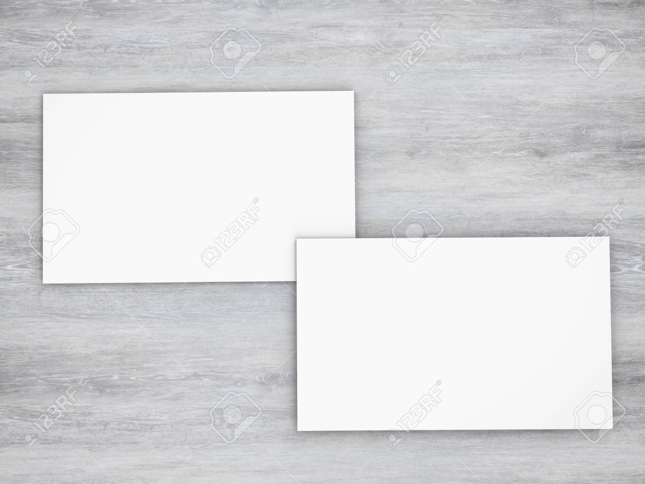 3d Rendering Blanc Cartes De Visite Blanche Avant Et Arriere Banque Dimages
