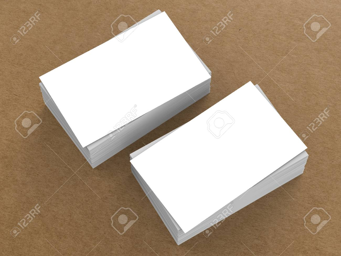 Stack Of White Blank Business Cards Or Name Cards Stock Photo ...