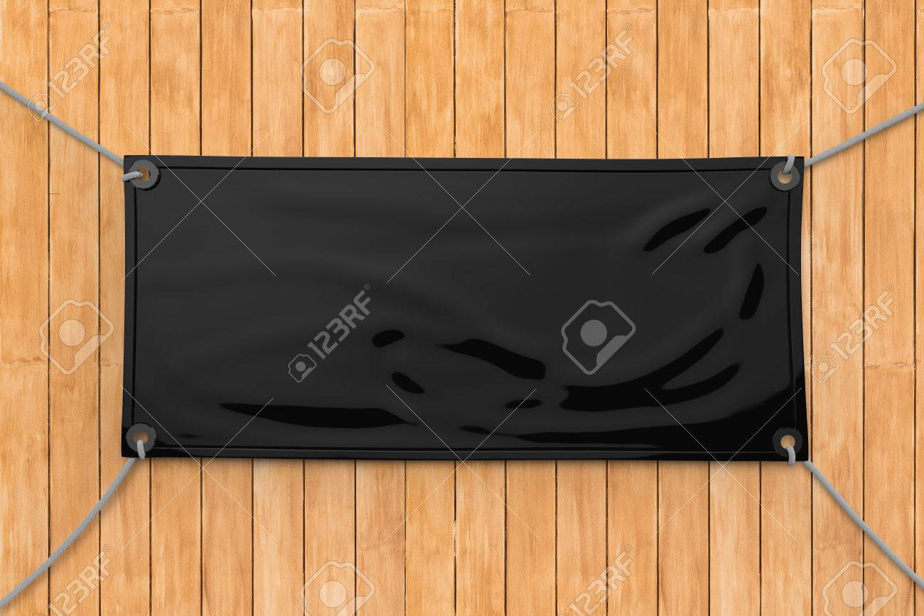 Black Blank Vinyl Banner Hanging Stock Photo Picture And Royalty - Blank vinyl banners