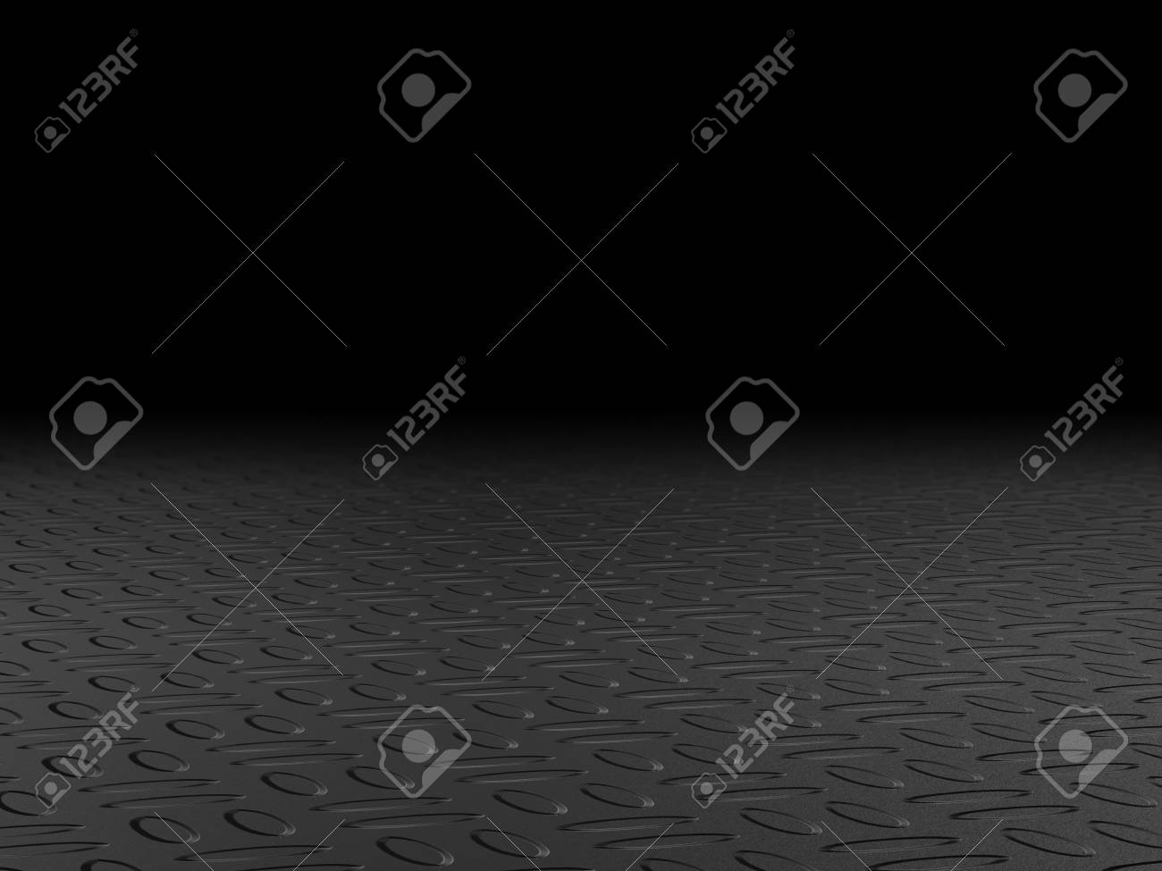 Black Yoga Mat On Background Stock Photo