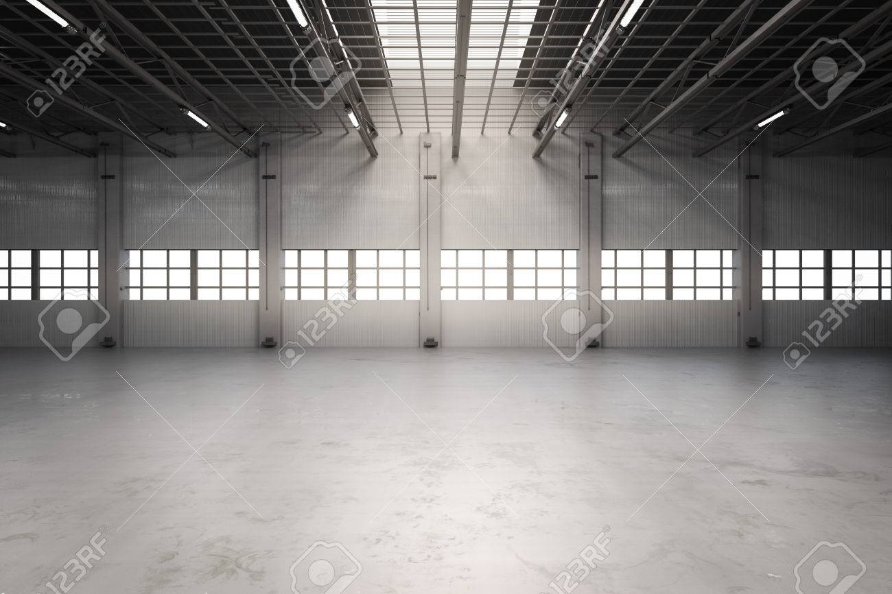 3d Rendering Empty Factory Interior Or Empty Warehouse Stock Photo    70119202