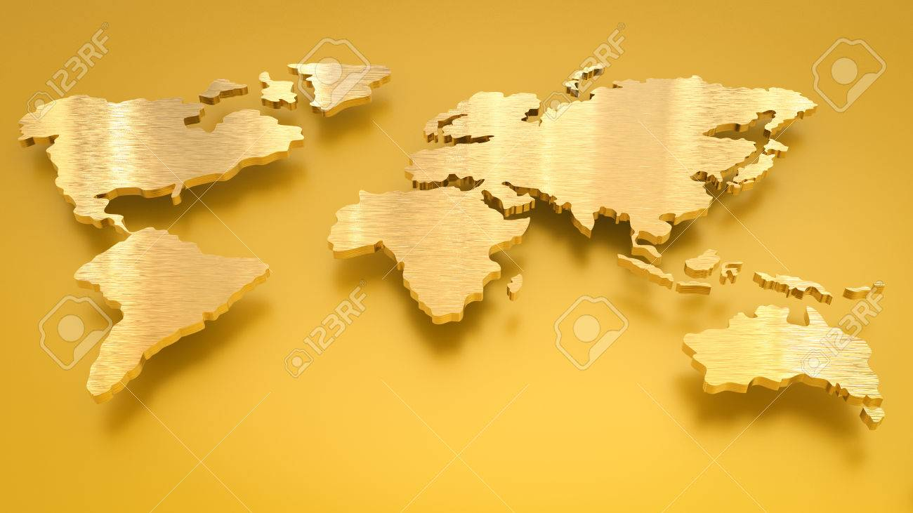 3d rendering golden world map on gold background stock photo 3d rendering golden world map on gold background stock photo 74828986 gumiabroncs Choice Image
