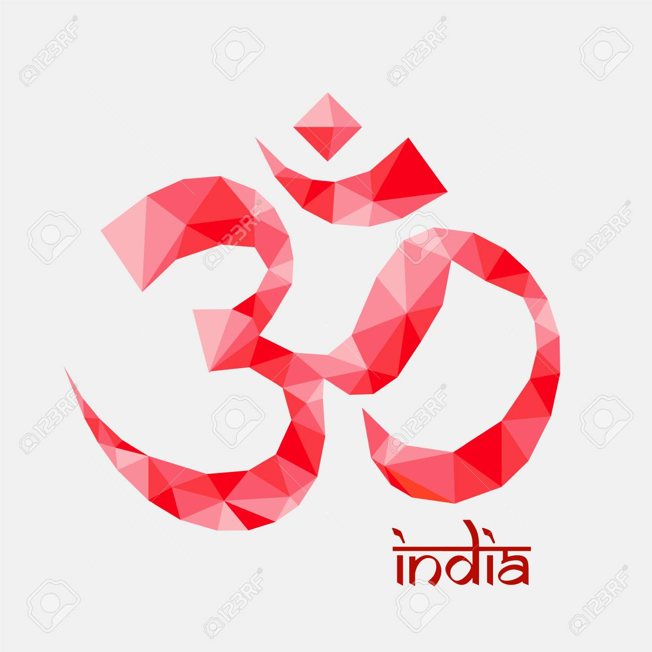 Om aum symbol in polygonal style royalty free cliparts vectors and om aum symbol in polygonal style stock vector 54081114 buycottarizona Image collections