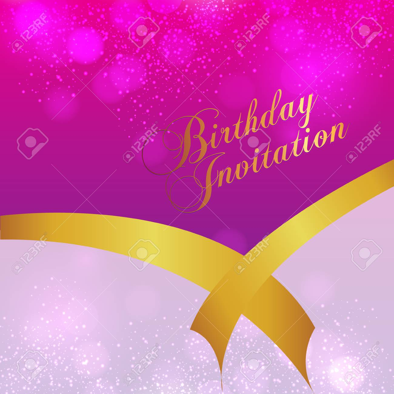 Happy Birthday Card And Background Design Stock Vector