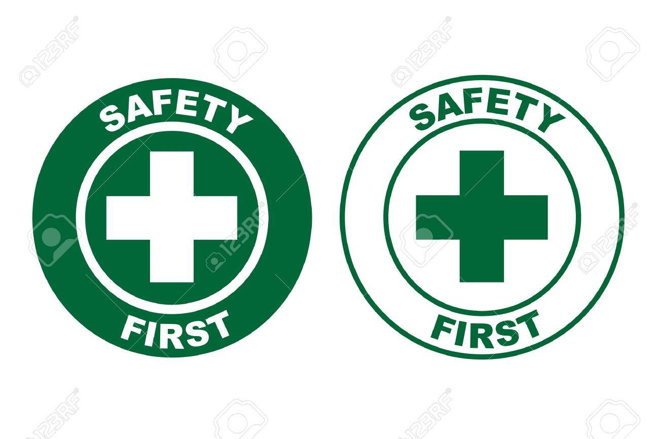 safety first sign Stock Vector - 17005408