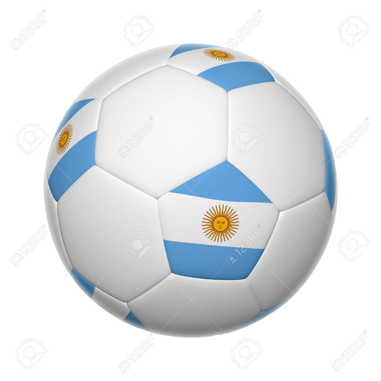 Flags on soccer ball of Argentina Stock Photo - 27713463 2954d2c9af1d