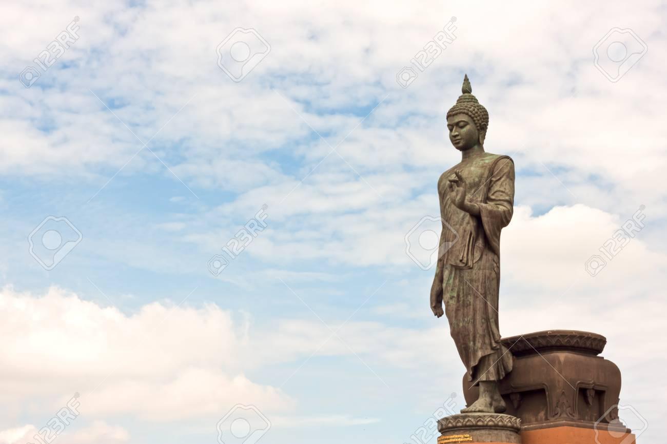 buddha image with beauty sky Stock Photo - 14455576