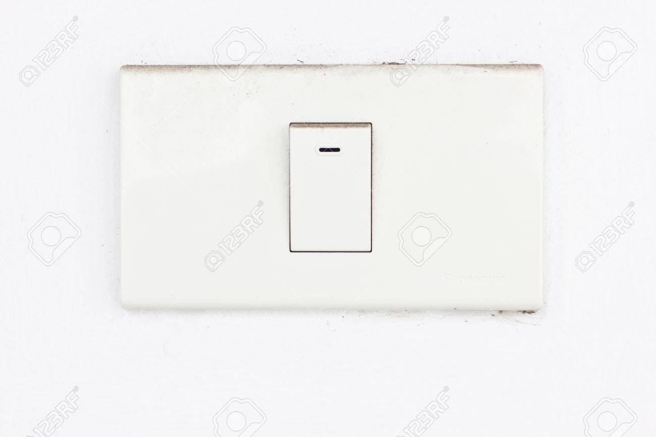 white switch Stock Photo - 17220921