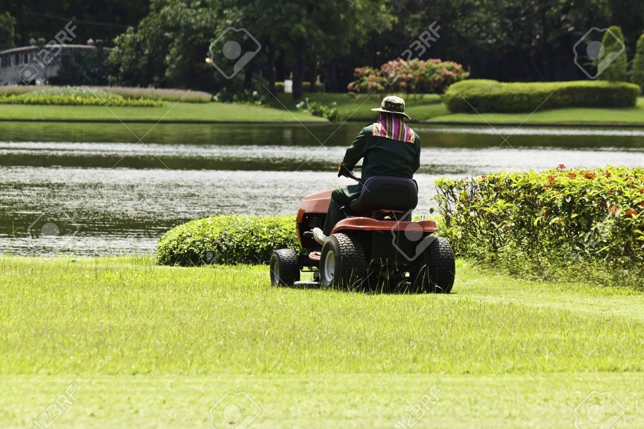 The gardener was mowing - 20850201