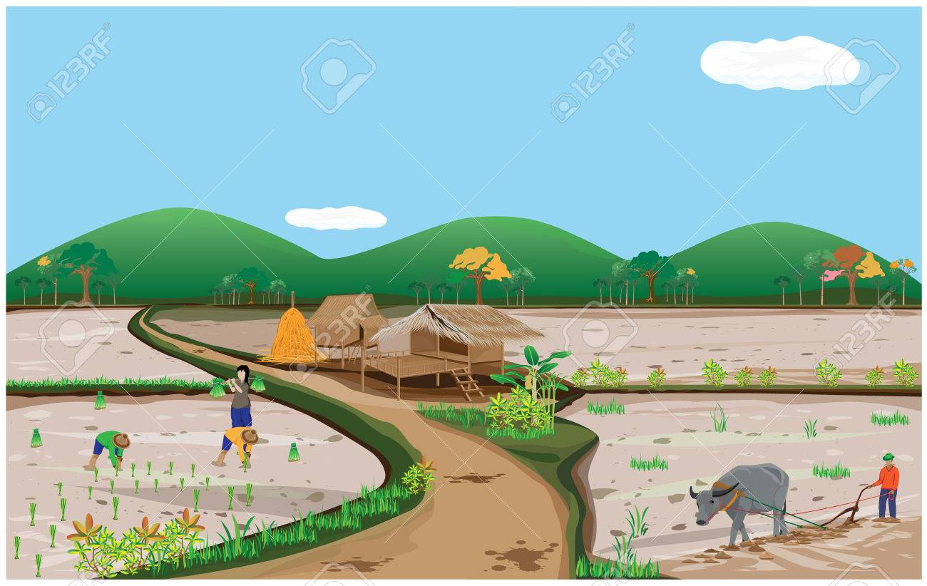 lifetyle of people in countryside vector design - 63355593