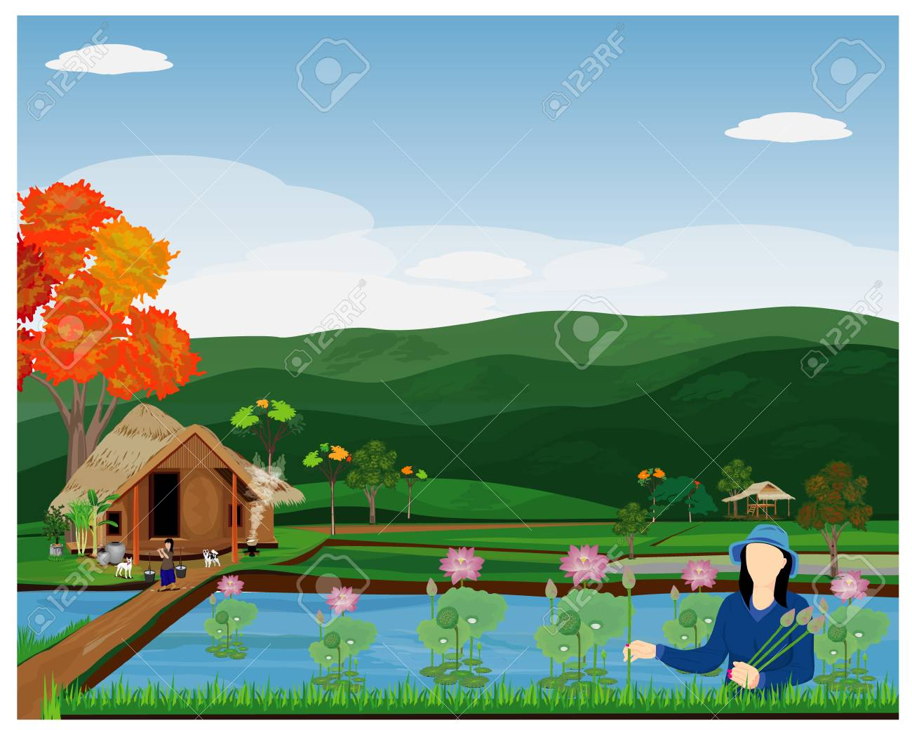 Marigold Flower Stock Illustrations – 3,418 Marigold Flower Stock  Illustrations, Vectors & Clipart - Dreamstime