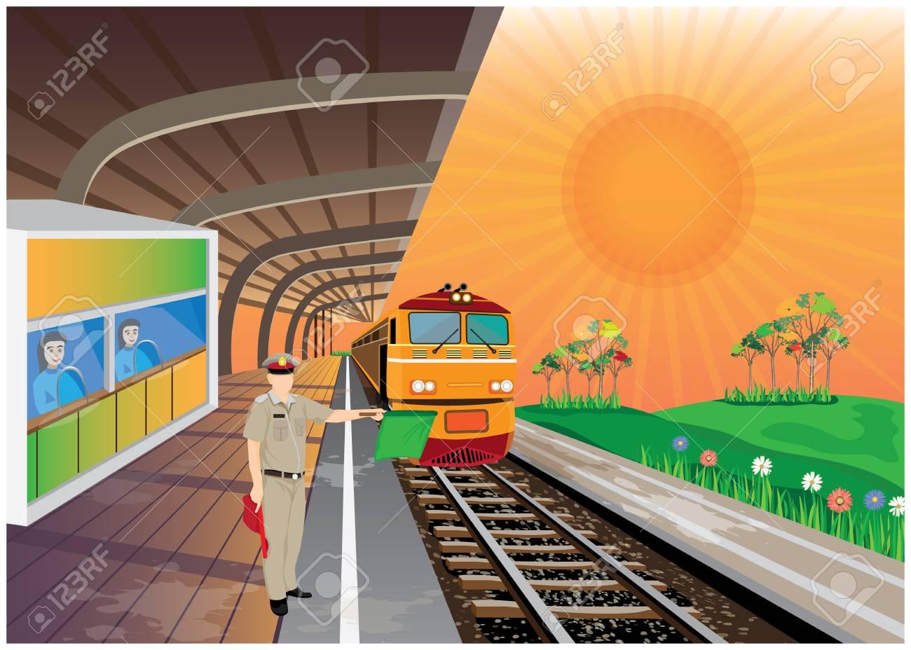 train station vector design - 127317203