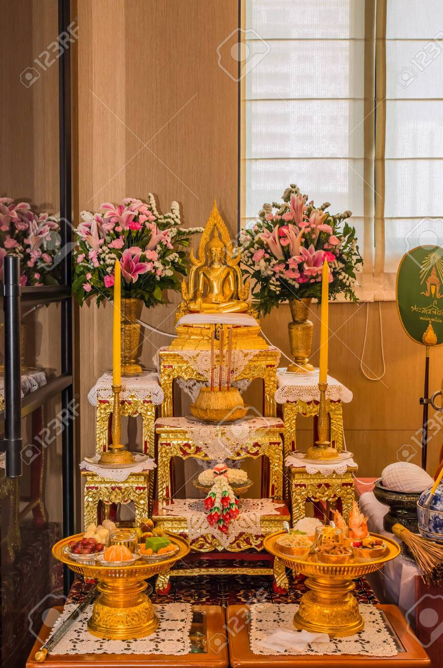 Set Of Altar Table In The Room Stock Photo Picture And Royalty Free Image Image 131130419