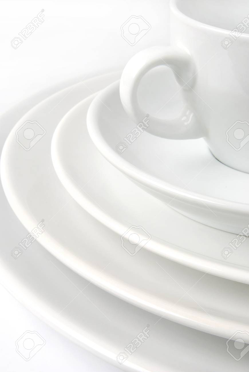 Cup with plates Stock Photo - 10529953