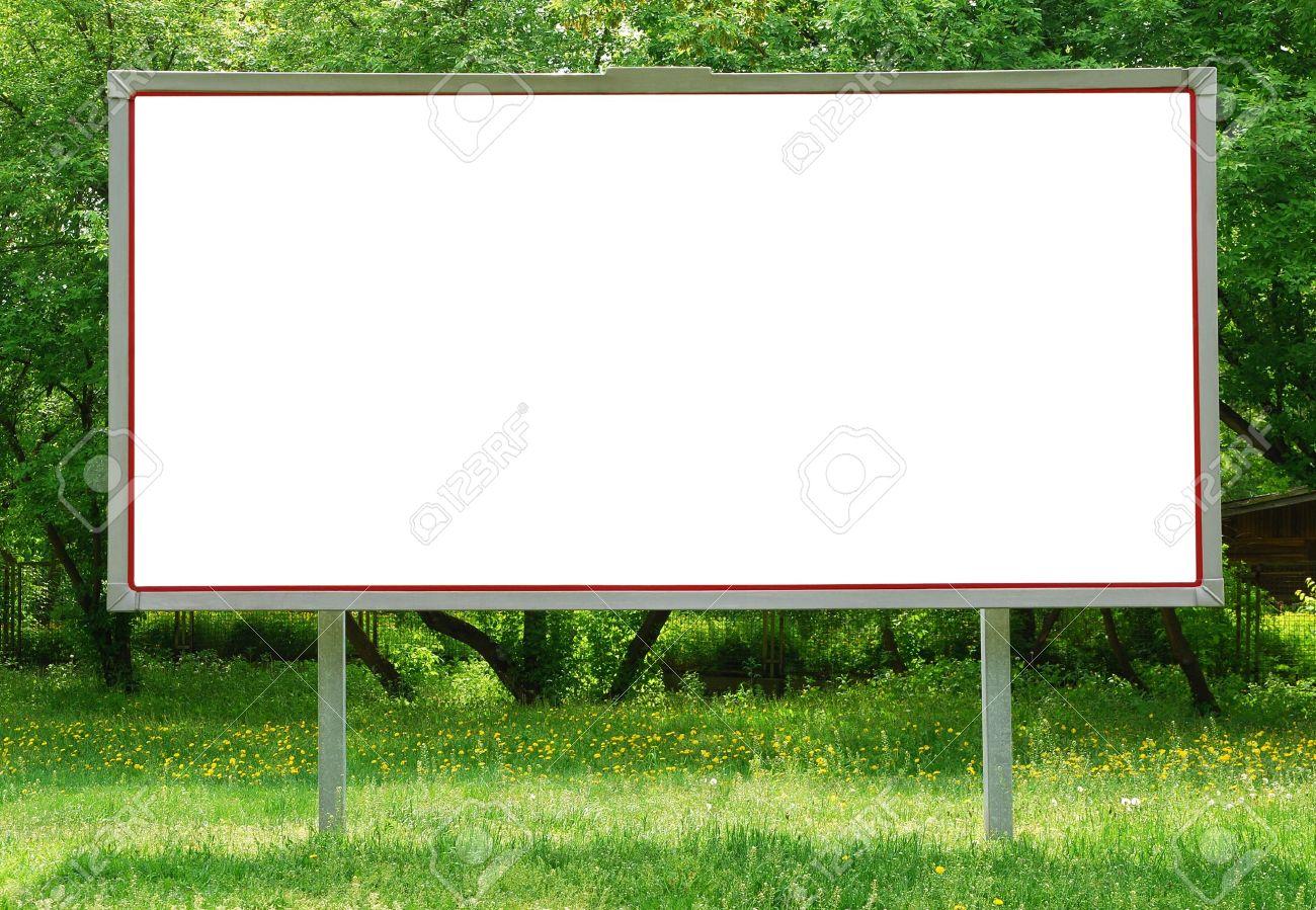 Billboard among greenery - 10556514