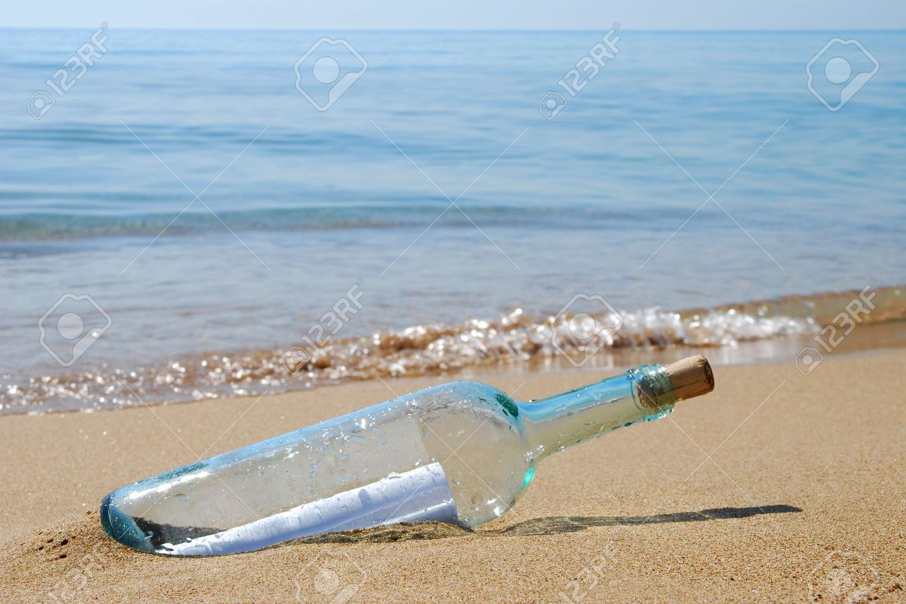 letter in a bottle stock photo 10571816