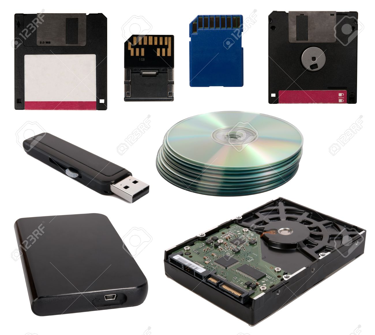 Data storage devices Stock Photo - 15320821