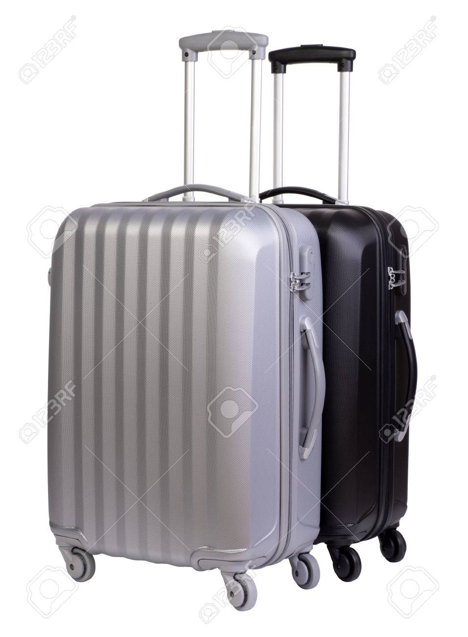 modern suitcases isolated on white background stock photo picture  - modern suitcases isolated on white background stock photo