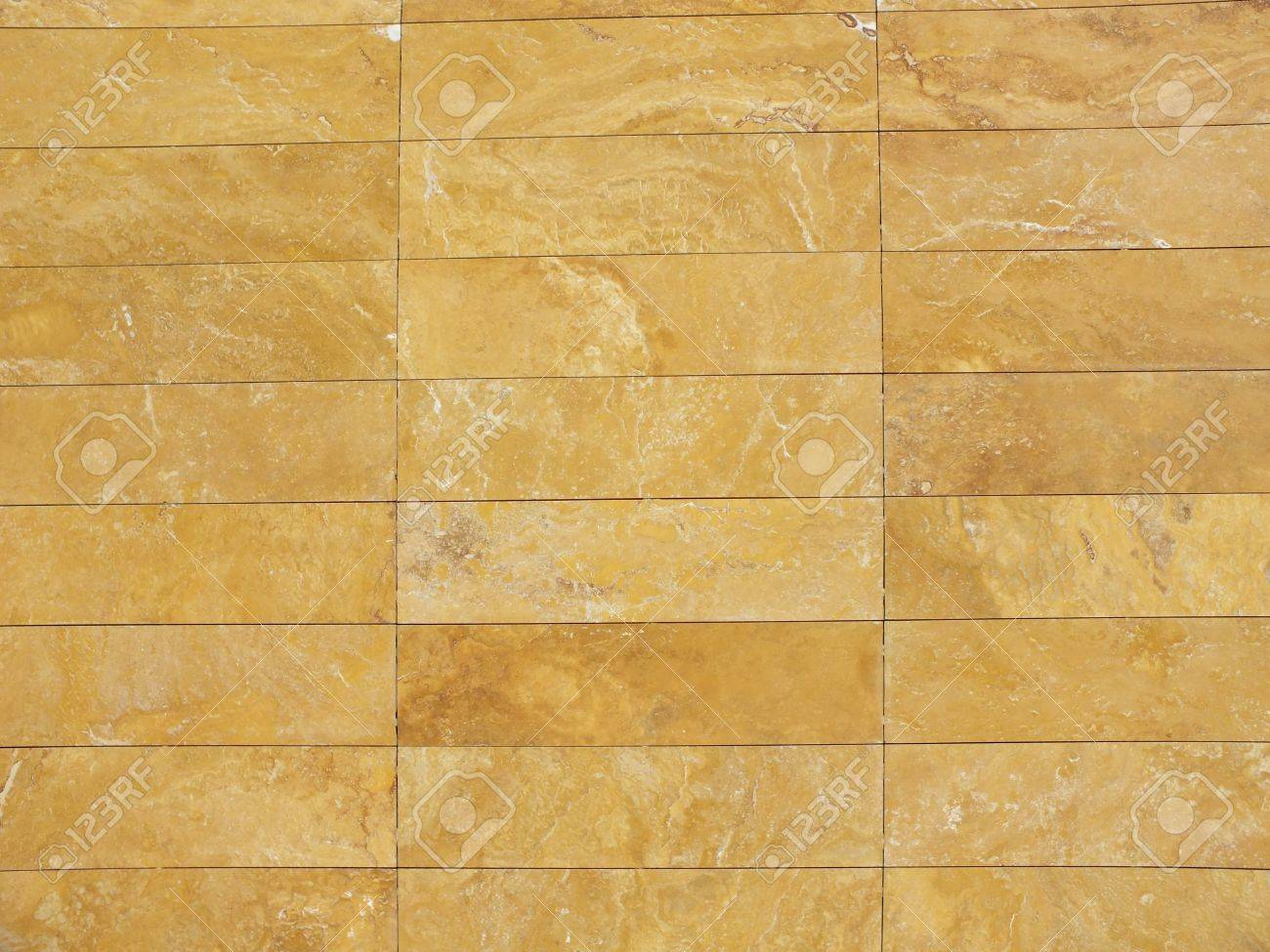 Yellow Wall Tiles Made Of Nature Stone Stock Photo Picture And