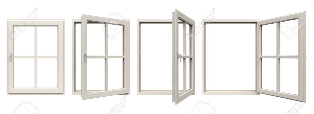 White Window Frame. Stock Photo, Picture And Royalty Free Image ...