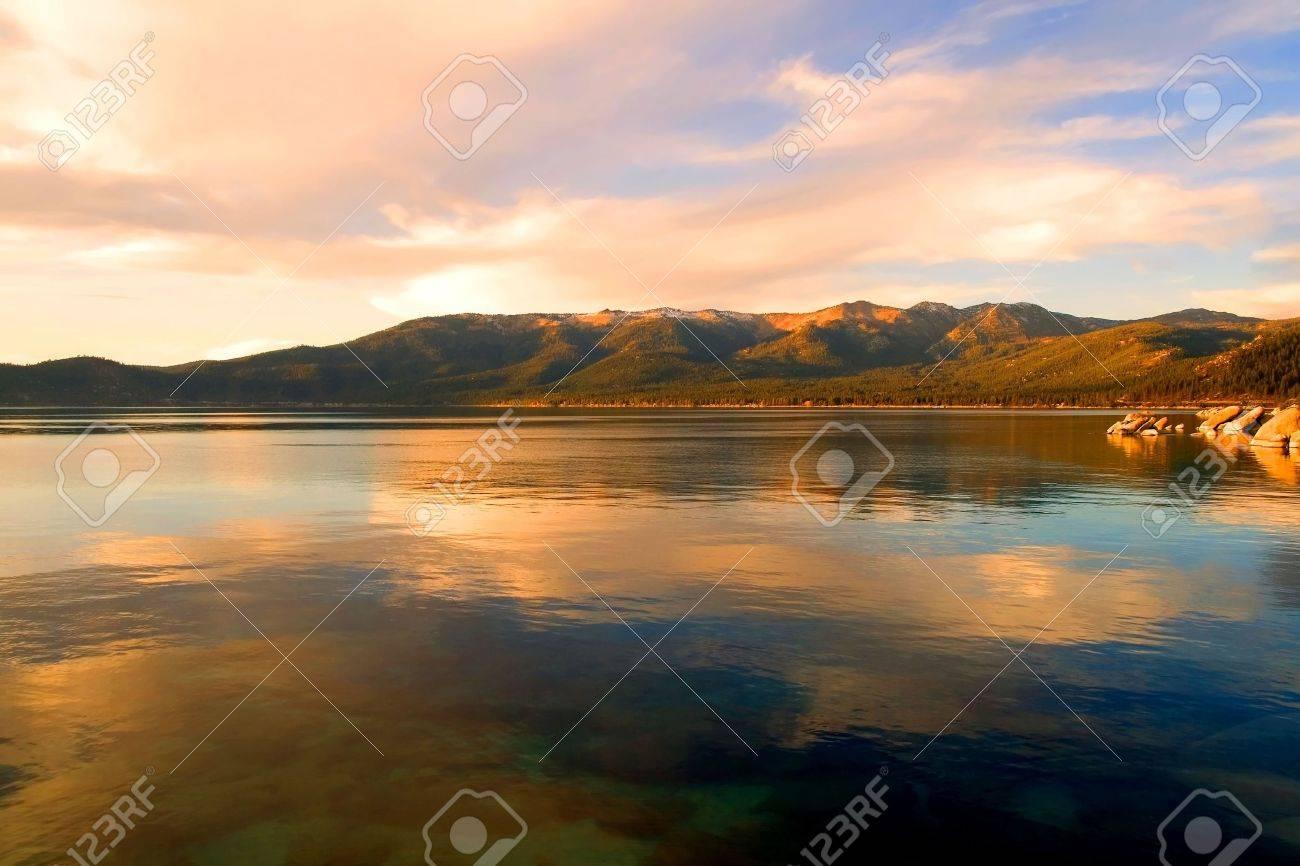 Lake Tahoe at sunset Stock Photo - 6148735