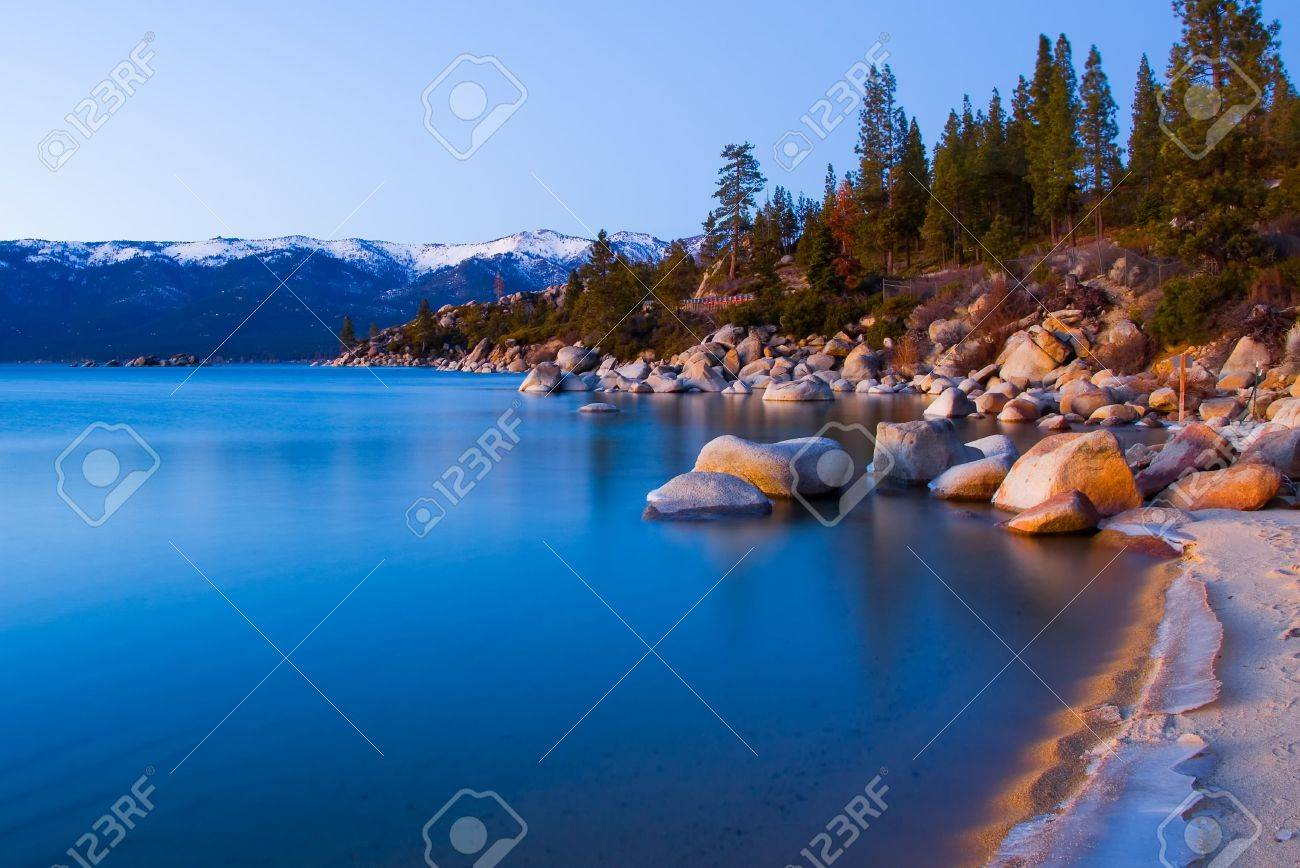 Lake Tahoe after sunset Stock Photo - 6148744