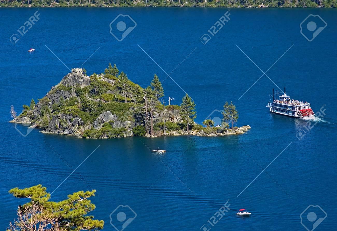 Fanette Island in Lake Tahoe California Stock Photo - 6548014
