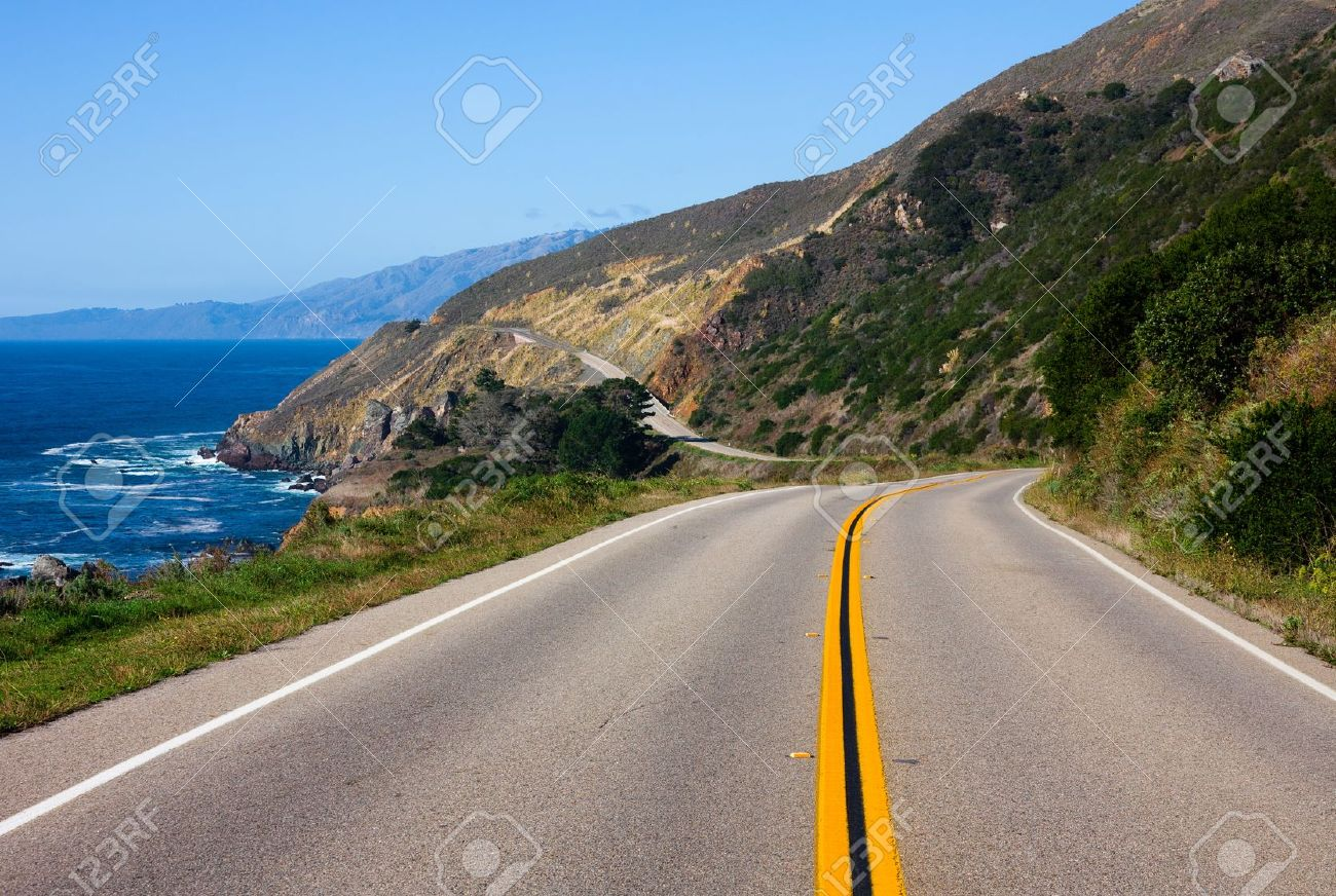 Highway through California Coast - 11419595