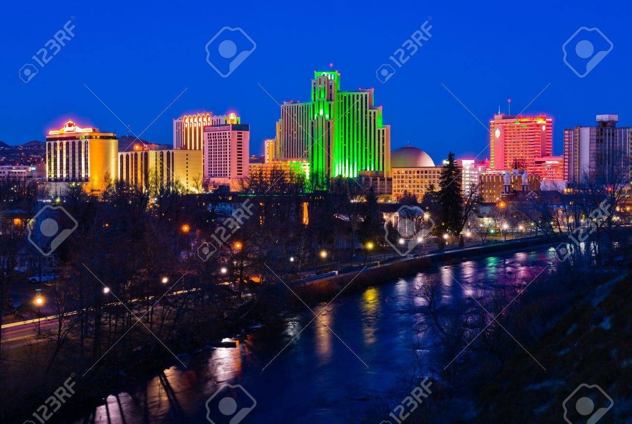 Reno, USA - January 21, 2007: Reno, known as The Biggest Little City in the World, is famous for it\ - 11457835