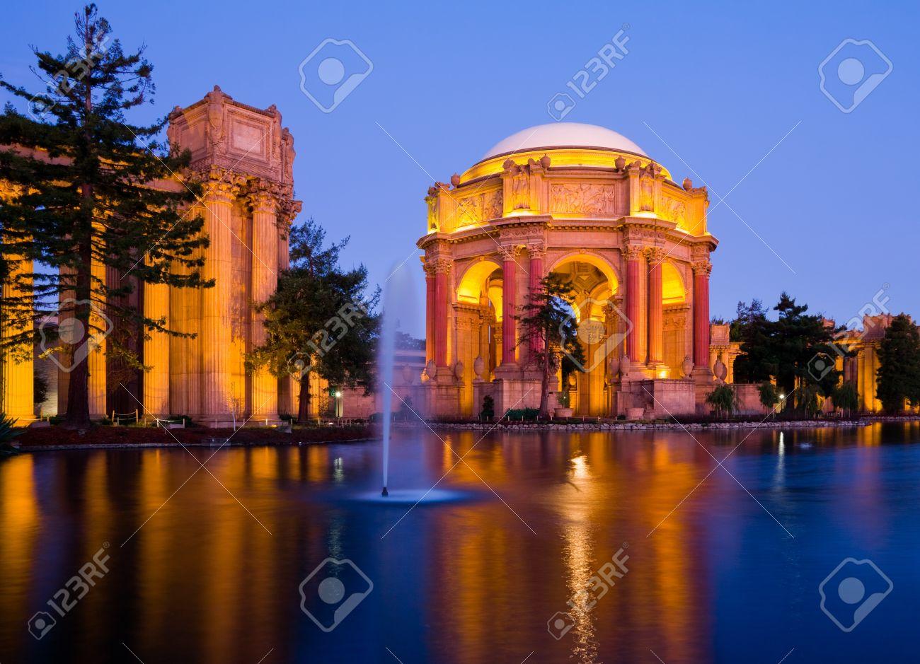 San Francisco Photography 11x14 Framed Palace of Fine Arts at Night