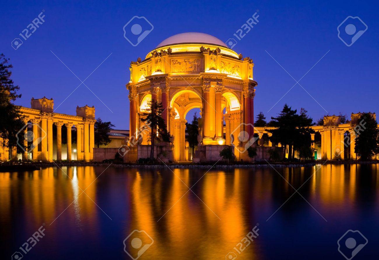 Palace of fine Arts at night in San Francisco - 12151022