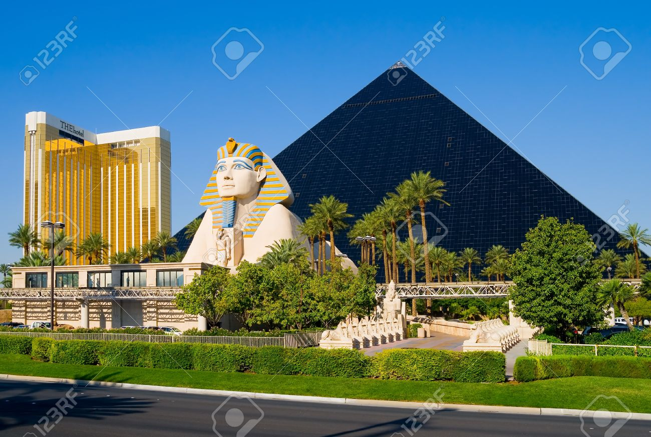 Pyramid Hotel And Sphinx In Las Vegas Stock Photo Picture And