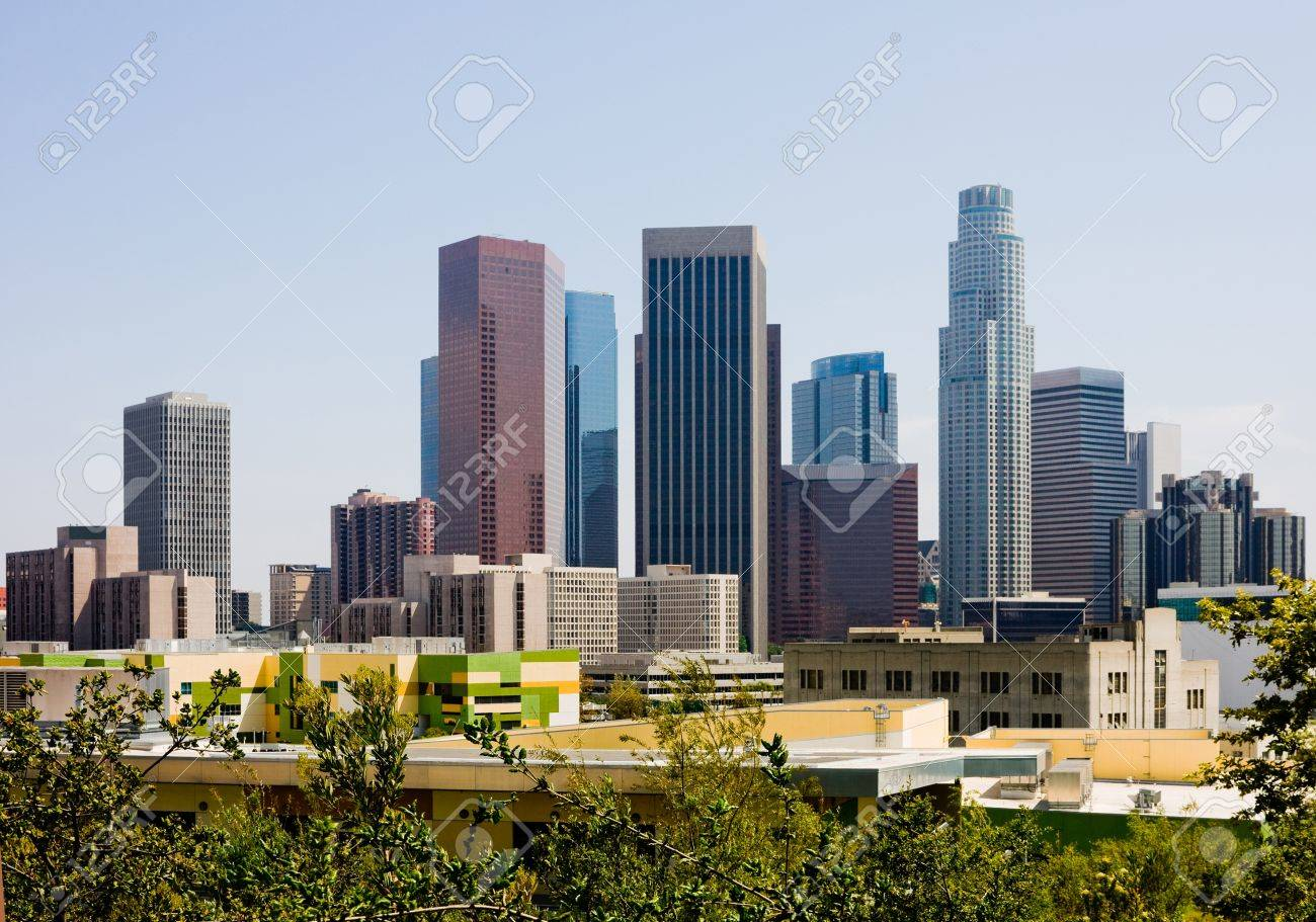 Skyscrapers in downtown Los Angeles - 14399972