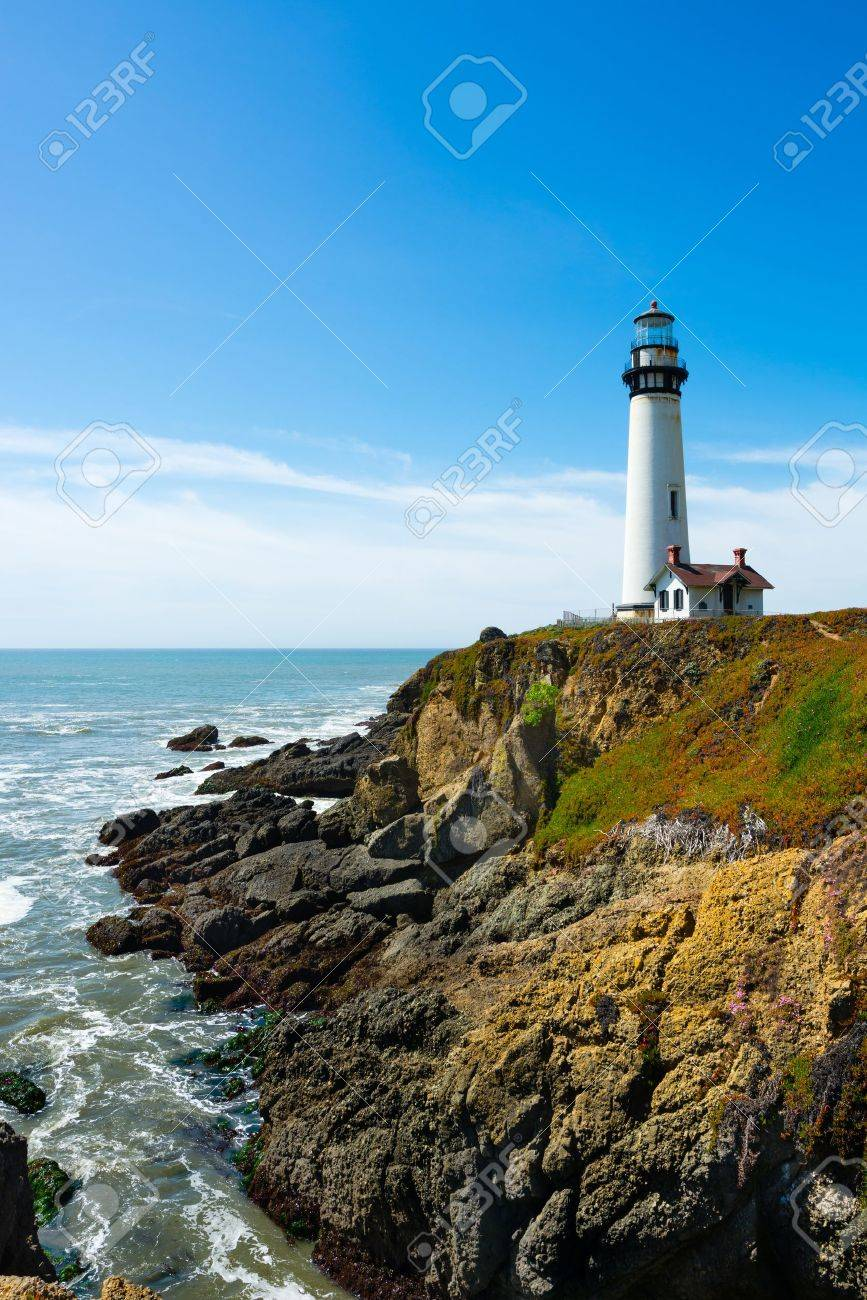 Pigeon Point Lighthouse in California - 18968248
