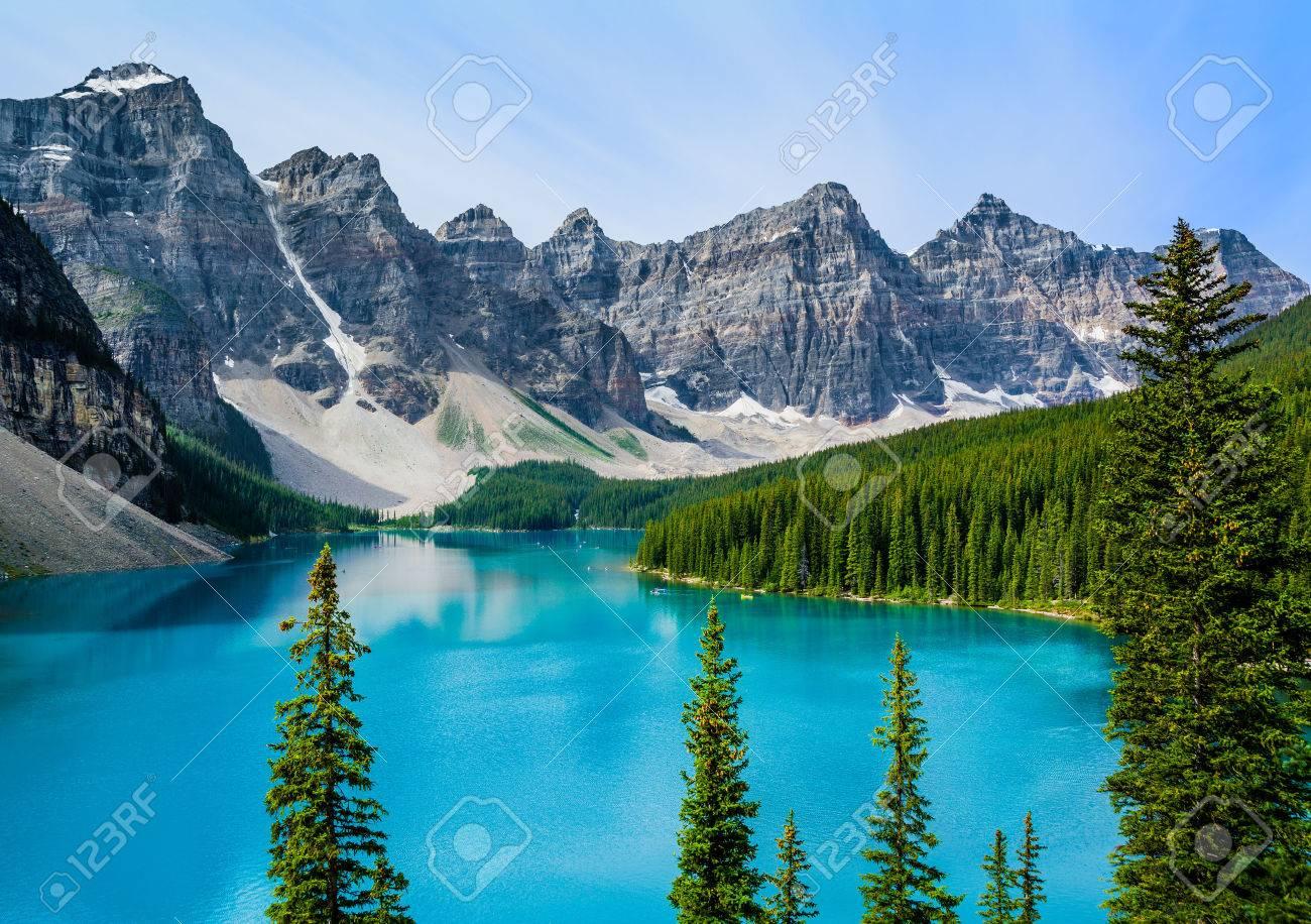 Moraine Lake in Banff National Park, Alberta, Canada - 30829292