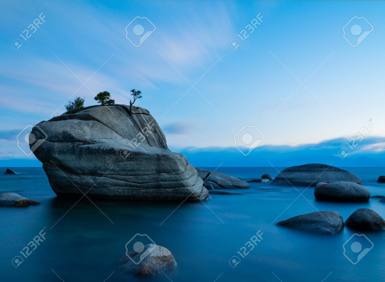 Bonsai Rock Lake Tahoe After Sunset Stock Photo Picture And Royalty Free Image Image 48369390