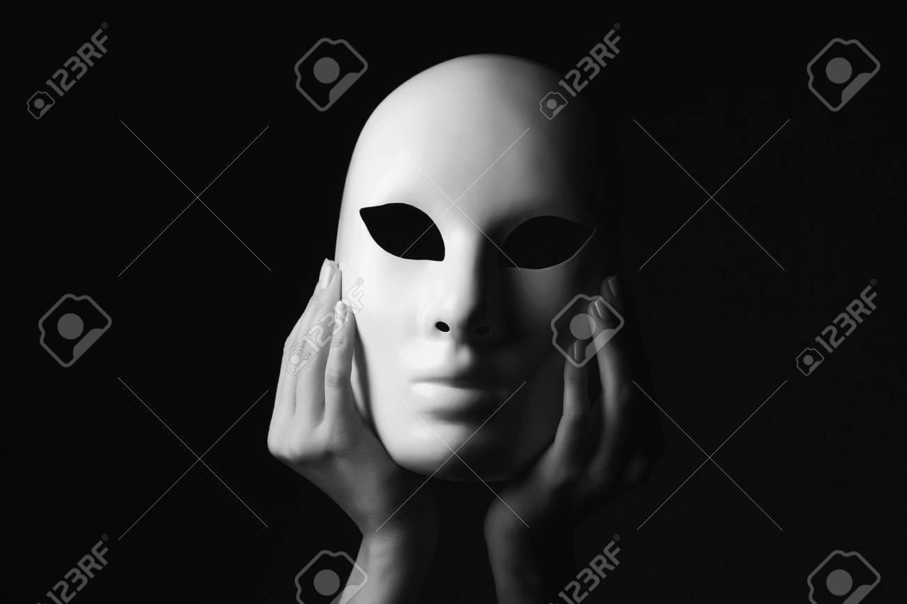 white mask.halloween concept - 46754200