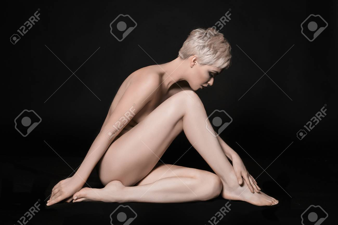 Sexy naked women with long legs